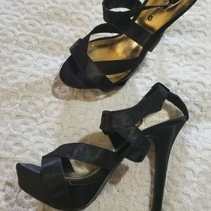 Body Central black Satin Heels